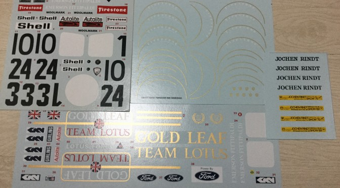 1/12 Lotus 72C Decals by Bestbalsakits